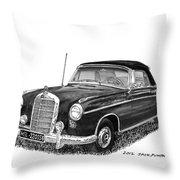 1958 Mercedes Benz 220s Throw Pillow
