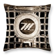 1958 Nash Metropolitan Grille Emblem Throw Pillow