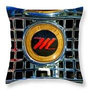 1958 Nash Metropolitan Hood Ornament 3 Throw Pillow