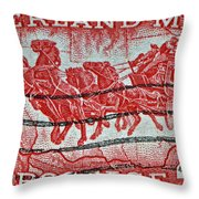 1958 Overland Mail Stamp Throw Pillow