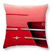 1958 Pegaso Z-103 Touring Berlinetta Side Emblem -1195c Throw Pillow