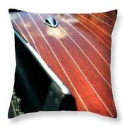 1958 Skipper Craft Throw Pillow