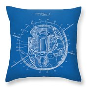 1958 Space Satellite Structure Patent Blueprint Throw Pillow