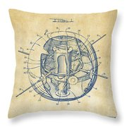 1958 Space Satellite Structure Patent Vintage Throw Pillow