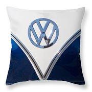 1958 Volkswagen Vw Bus Hood Emblem Throw Pillow