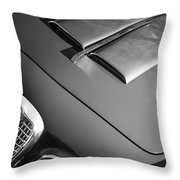 1959 Alfa Romeo 2000 Spider Grille Emblem -0482bw Throw Pillow