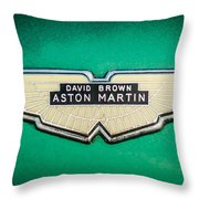 1959 Aston Martin Db4 Gt Hood Emblem -0127c Throw Pillow