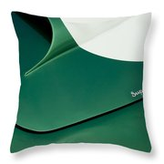 1959 Aston Martin Db4 Gt Hood  Throw Pillow