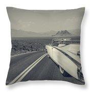 1959 Cadillac Eldorado Convertible Ambrotype Throw Pillow