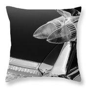 1959 Cadillac Eldorado Taillight -075bw Throw Pillow