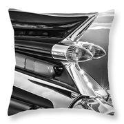 1959 Cadillac Eldorado Taillight -097bw Throw Pillow