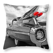 1959 Cadillac Tail Fins Throw Pillow