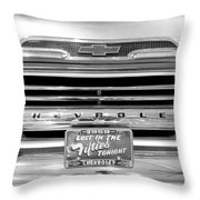 1959 Chevrolet Apache Bw 012315 Throw Pillow