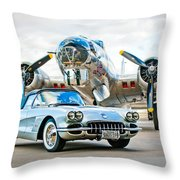 1959 Chevrolet Corvette Throw Pillow