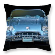 1959 Corvette Front View Throw Pillow