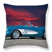 1959 Corvette Fuel Injected Throw Pillow