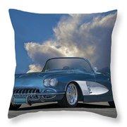 1959 Corvette Roadster 1 Throw Pillow