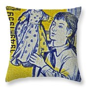 1959 Czechoslovakia Stamp Throw Pillow