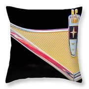 1959 Desoto Adventurer Emblem Throw Pillow by Jill Reger