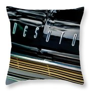 1959 Desoto Adventurer Hood Emblem Throw Pillow by Jill Reger