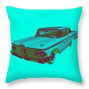 1959 Edsel Ford Ranger Modern Popart Throw Pillow