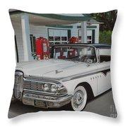 1959 Edsel Ranger Throw Pillow by Paul Kuras