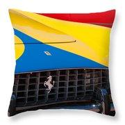 1959 Ferrari 250 Gt Coupe Grille Emblems Throw Pillow
