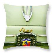 1959 Fiat 600 Derivazione 750 Abarth Hood Ornament Throw Pillow