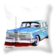 1959 Ford Edsel Ranger 4-door Sedan Throw Pillow