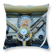 1959 Ford Thunderbird Convertible Steering Wheel Throw Pillow