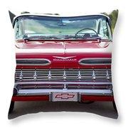 1959 Impala Hardtop Sport Coupe Throw Pillow