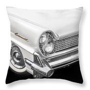 1959 Lincoln Continental Chrome Throw Pillow