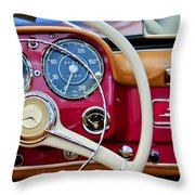 1959 Mercedes-benz 190 Sl Steering Wheel Throw Pillow