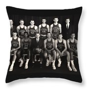 1959 University Of Michigan Basketball Team Photo Throw Pillow