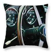 1960 Aston Martin Db4 Gt Coupe' Steering Wheel Emblem Throw Pillow
