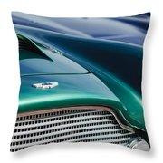 1960 Aston Martin Db4 Series II Grille - Hood Emblem Throw Pillow by Jill Reger