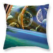 1960 Aston Martin Db4 Series II Steering Wheel Throw Pillow