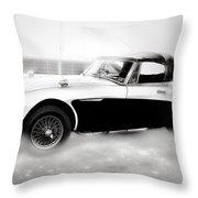 1960 Austin Healey Throw Pillow