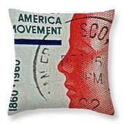 1960 Boys' Clubs Of America Movement Stamp Throw Pillow