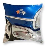 1960 Chevrolet Bel Air 012315 Throw Pillow