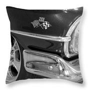 1960 Chevrolet Bel Air Bw 012315 Throw Pillow