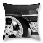 1960 Chevrolet Bel Air Bw2 012315 Throw Pillow