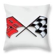 1960 Chevrolet Corvette Emblem Throw Pillow