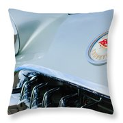 1960 Chevrolet Corvette Hood Emblem Throw Pillow