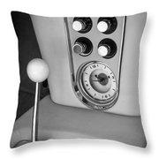 1960 Chevrolet Corvette Instruments Throw Pillow by Jill Reger