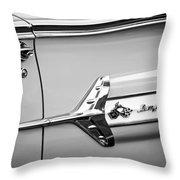 1960 Chevrolet Impala Emblem -340bw Throw Pillow