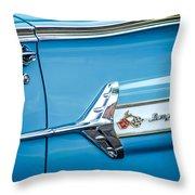 1960 Chevrolet Impala Emblem -340c Throw Pillow