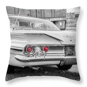 1960 Chevy Impala   7d08509 Throw Pillow