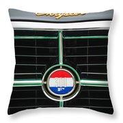 1960 Chrysler 300f Convertible Grille Emblem Throw Pillow