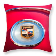 1960 Chrysler Imperial Crown Convertible Emblem Throw Pillow